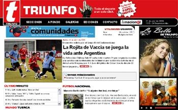 Triunfo.cl, revista eléctronica de deportes